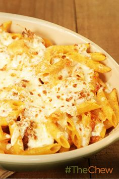 Michael's pulled pork is delicious in this Baked Penne with Pork Ragu dish!