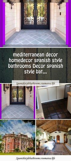 Spanish style houses videos Mediterranean decorSpanish style videos spanish style homes vi- Spanish Bathroom, Spanish Style Bathrooms, House Architecture Styles, English Architecture, Mediterranean Style Homes, Spanish Style Homes, Victorian Bathroom Accessories, Guest Bathroom Remodel, Traditional Style Homes