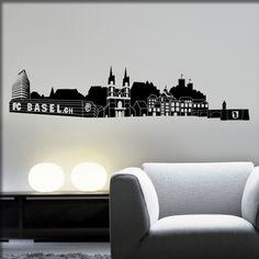 Wandtattoo Basel Skyline Basel, Hotels, Skyline, House, Home Decor, Art, Nice Asses, Art Background, Decoration Home