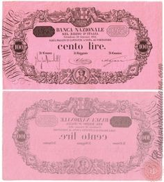 100 LIRE - 1873 1896 Money Notes, Lus, Coin Collecting, Nostalgia, Coins, History, Projects, Vintage, Italian Lira