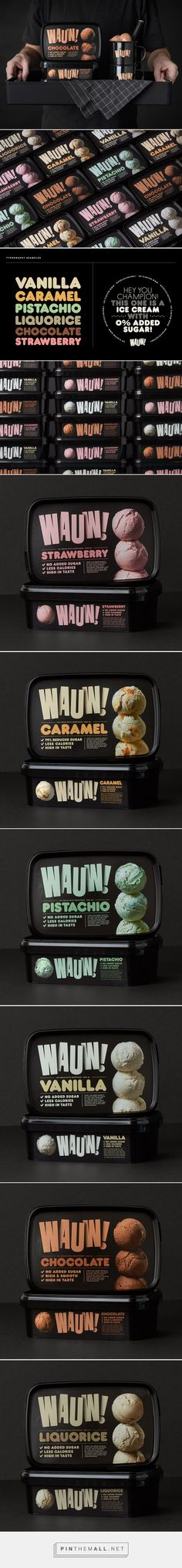 Wauw! Ice Cream by Snask. Source: Inspiration Grid. Pin curated by #SFields99 #packaging #design #inspiration #ideas #icecream #tub