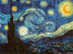 Cover a bare wall with 55 x 39 inches of Van Gogh - Starry Night! Giant poster from AllPosters.com, $19.99
