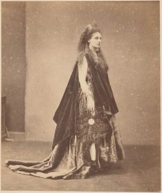 """""""La Reine d'Étrurie"""" by Pierre-Louis Pierson. 1863. Countess Virginia Oldoini…"""