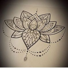 Lotus mandala flower tattoo: