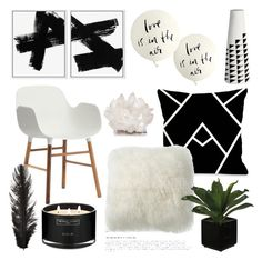 """Love is in the air.."" by southernpearldesigns ❤ liked on Polyvore featuring interior, interiors, interior design, home, home decor, interior decorating, Normann Copenhagen, One Bella Casa, The White Company and CB2"