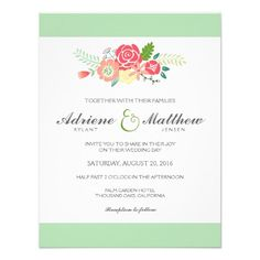 See MoreSimply Floral & Stripes Wedding Invitation / Mint Custom InvitationsYes I can say you are on right site we just collected best shopping store that have
