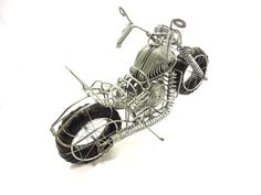 Wire Motorbike by Mosaicvillage on Etsy, $24.95
