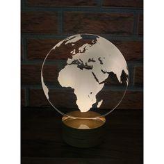 3 Boyutlu Dünya Haritası Lamba