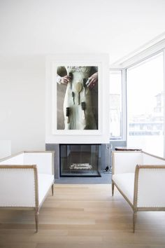 Oversize original photography in a living area