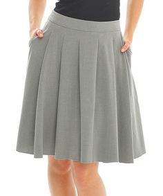 Another great find on #zulily! Gray Pleated Skirt by Zac Studio #zulilyfinds