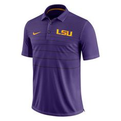 Men s Nike Purple LSU Tigers 2017 Early Season Polo Size XXL Lsu Tigers 38b793072