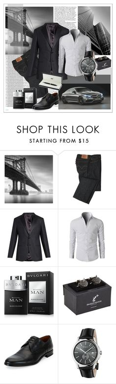"""""""Untitled #209"""" by senalica ❤ liked on Polyvore featuring Oris, Mercedes-Benz, Levi's, Giorgio Armani, Bulgari, Deakin & Francis, Bally, Gucci and Montblanc"""