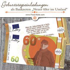 """banknote geldschein 50. geburtstag einladung """"neuer fünfziger, Einladung"""
