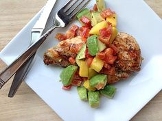 Costco Plan #1 Grilled Chicken with Mango Avocado Salsa