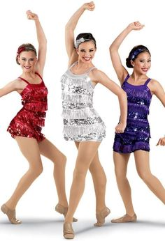 perfect for when i finally talk John into taking salsa lessons with me Metallic Sequin Fringe Dress -Weissman Costumes Trio Costumes, Cute Dance Costumes, Ballet Costumes, Costume Ideas, Dance Outfits, Dance Dresses, Pullover Shirt, Dance Poses, Fringe Dress