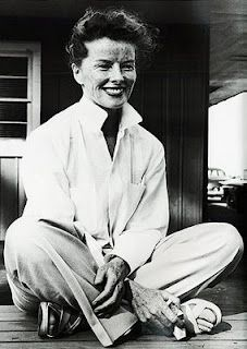 Katharine Hepburn-Always loved her.  She was never afraid to be herself no matter how different she was or what people thought of her.  She had a beauty & class from within that glowed.