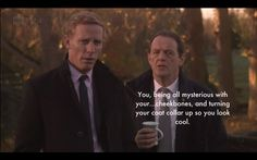 Inspector Lewis and Sherlock clash... Perfect.