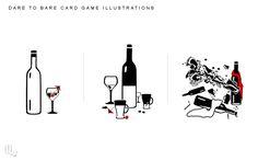 Dare To Bare Card Illustrations by ameshin.deviantart.com on @DeviantArt