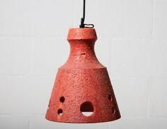 West German Ceramic Ceiling Lamp