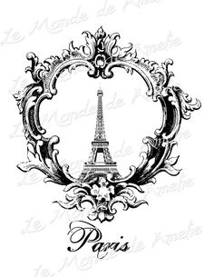 Paris Image for Invitation or Artwork