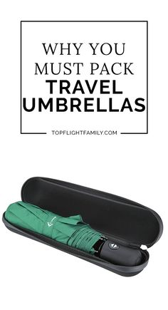 Don't get caught in the rain on vacation. Pack one of these ultra-compact travel umbrellas and you'll be ready for any kind of weather.