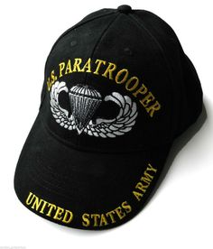 fa0689a0 US Paratrooper Wings Embroidered Baseball Cap Hat New Design