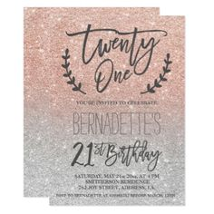 Elegant Minimal Rose Gold Shimmer Corporate Event Card  Corporate