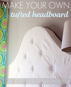 make your own tufted headboard tutorial