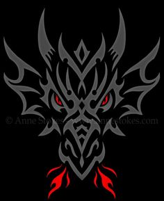 Tribal » - Tribal dragon head http://www.annestokes.com/