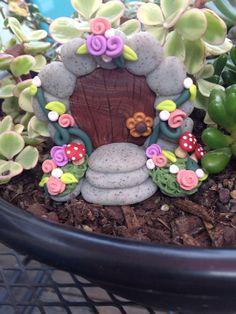 Fairy Door miniature garden polymer clay by Whimsybydesign1, $18.00