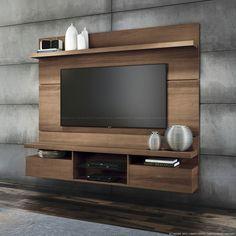 Estante Home Theater para TV até 55 Polegadas Suspenso Livin 165 x 181 x 35 Macchiato - HB Móveis | Lojas KD