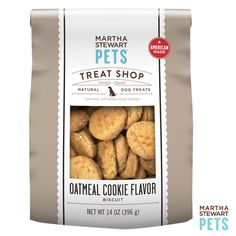 #AmericanMade #MarthaStewartPets Treat Shop | Natural Oatmeal Cookie Dog Treat only @petsmartcorp