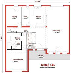cette maison moderne aux volumes cubiques offre une surface habitable de 145m sur 2 niveaux