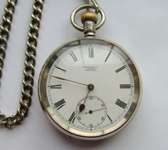 Antique 1910 Omega Pocket Watch & Chain | 305277 | Sellingantiques.co.uk