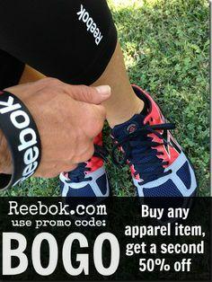 BOGO and NANO deals. Now through Sunday 12/1 ONLY! click for promo codes. #Reebok