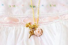 Girl's Petite Vintage Brass Ballerina Trio by SweetAuburnStudioKid, $24.00