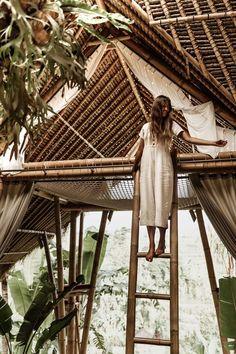 Camaya Bali Destination Bamboo House Bali, Bamboo House Design, Bamboo Architecture, Types Of Architecture, Open Bathroom, Tree House Designs, Natural Homes, Sustainable Fabrics, Plastic Waste