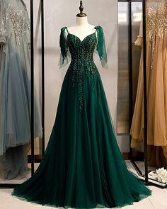 Emerald Green Spaghetti Straps Prom Dress Shinny Prom Sexy Dresses, Junior Prom Dresses, Prom Dresses For Teens, Cheap Evening Dresses, Prom Dresses Blue, Formal Dresses, Wedding Dresses, Summer Dresses, Green Evening Dress