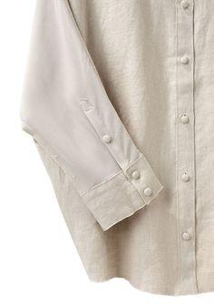Acne | Joy Linen Shirt | La Garçonne