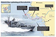 Karta Nord SydKorea. Dagens Nyheter. #nyhetsgarfi #infografik