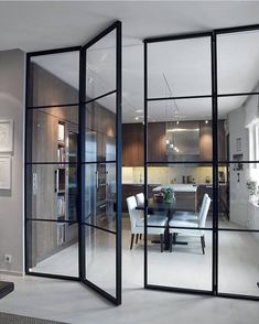 Interior french doors add a beautiful style and elegance to any room in your home. House Design, House, Interior, Home, Decor Interior Design, House Interior, Innovation Design, Interior Design, Glass Wall