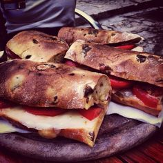 <i>Pane Cunzato</i> (Homemade Bread with Tomatoes, Cheese and Anchovies)