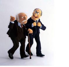 Statler and Waldorf walking