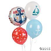 Nautical Baby Shower Balloon Assortment