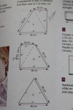 tutoriel diy fabriquer un pouf triangulaire en 90 minutes via diy couture. Black Bedroom Furniture Sets. Home Design Ideas