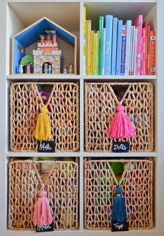 Bright, creative big girl's room