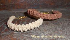 Braccialetto uncinetto spiga rumena elegante tessuto scamosciato tonalità marrone e beige di MaryCreationCrochet su Etsy
