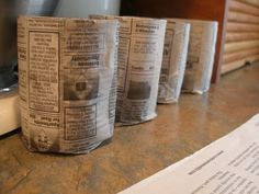 Newspaper Starter Pots