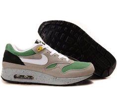 Fake Mens Nike Air Max 1 Classic Green Barely Grey Medium Grey Shoes $42.98