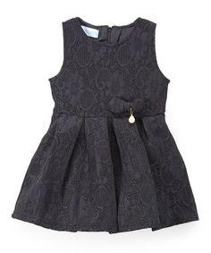 Black Lace Sleeveless Dress - Toddler & Girls